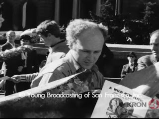 Kesey Promotes Trips Festival in Union Square, Courtesy of The San Francisco Bay Area Television Archive