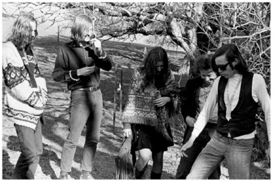 Janis Joplin with Big Brother and the Holding Company in Golden Gate Park for the Love Pageant Rally / Courtesy of Janis Joplin Official Site