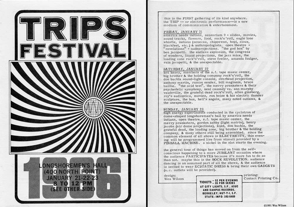 Trips Festival Poster. Courtesy of http://rosamondpress.com/
